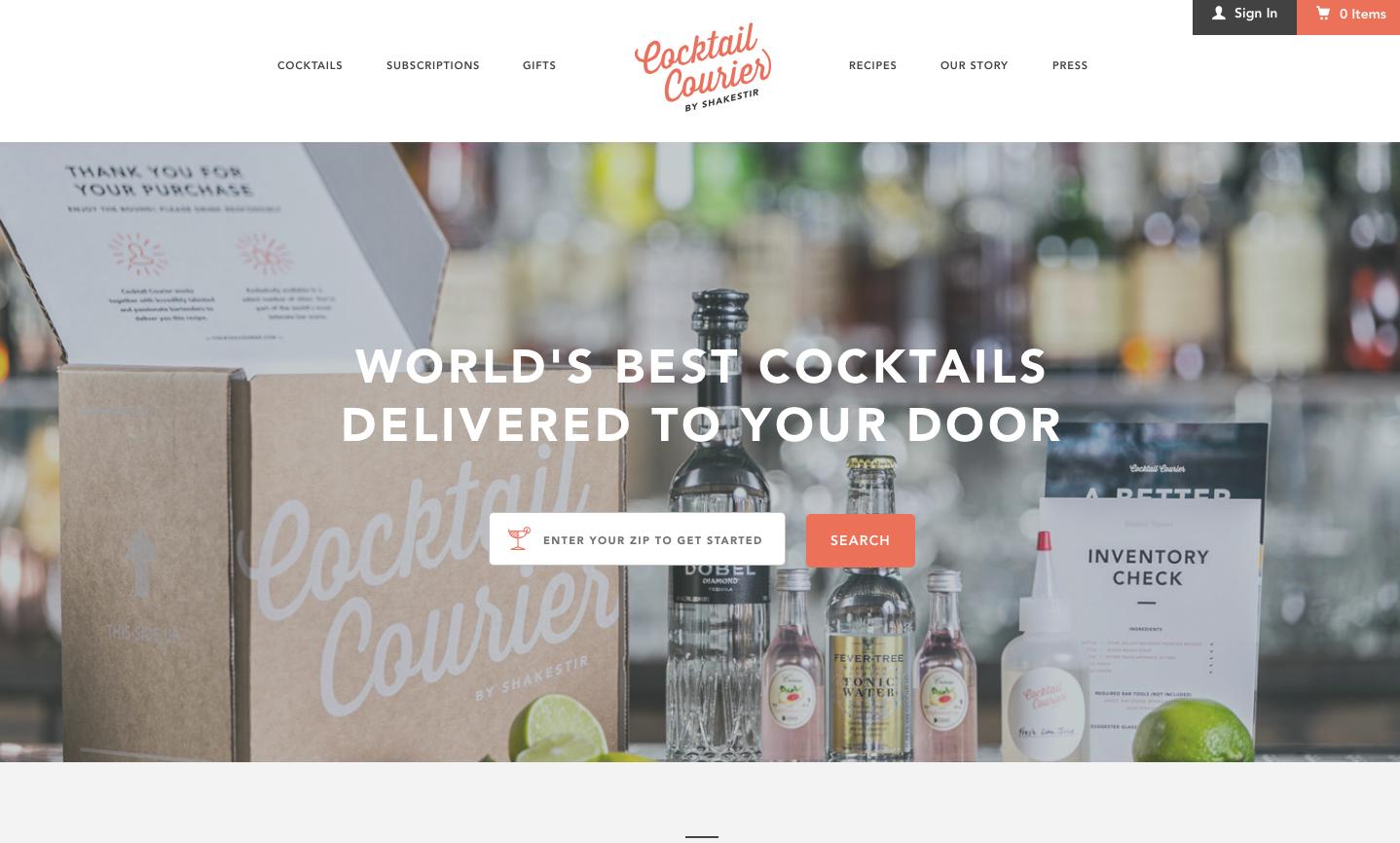 online- drink-shop-cocktail courier